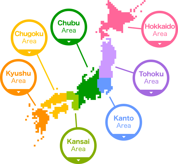 Map of Sanko Gakuen Schools Around Japan